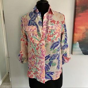 Yumi Kim floral button down blouse